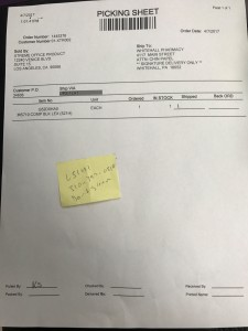printer ink invoice